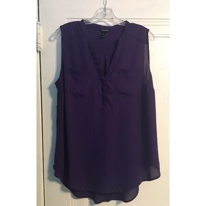 Georgette Sleeveless Pullover Blouse 00